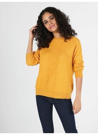 Colin's Regular Fit Yarim Balikci Kadın Sarı Kazak Sarı